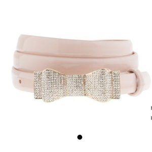 Blush Pink J.Crew Bow Belt